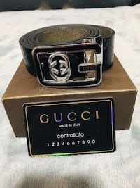 Gorgeous black monogram Gucci belt Edmonton