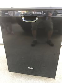 Black whirlpool gold dishwasher with stainless steel tub