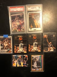 Lot Of 8 Shaquille O'Neal Trading Cards.
