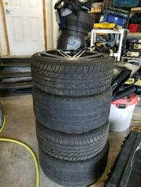 black auto wheel with tire set Barrie, L4N 8R8