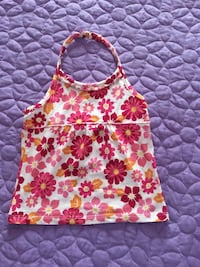 white and red floral halter top Suitland, 20746