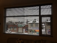 Dark brown wooden venetian  window blinds Toronto, M6M 1B2