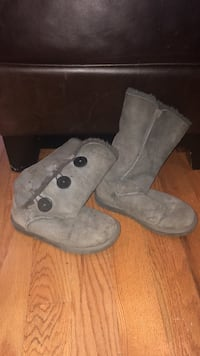 pair of gray suede boots New York, 10022