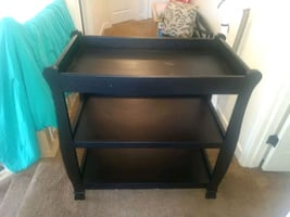 Baby changing table black