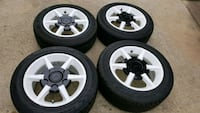 four gray 5-spoke car wheels with tires Silver Spring, 20910