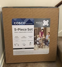 Brand New Cosco Vinyl Table and 4 Chairs (5-piece) Set - $55 Springfield, 22151