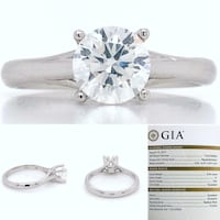 New: Platinum 0.96ct Diamond Solitaire Engagement Ring GIA Certificate Victoria, V8Z 0B9