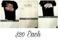 three t-shirts 20 dollars each Titusville, 16354