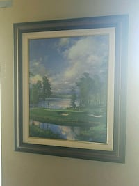 brown wooden framed painting of house Woodbridge, 22193