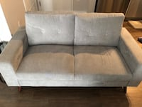 gray fabric 2-seat sofa Reston