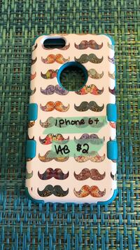 white and multicolored mustache print iPhone case Bowling Green, 42101