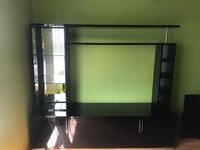 black and gray TV stand Louisville, 40228