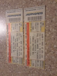 two white and red tickets CHICAGO