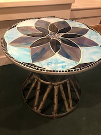mosaic ceramic tile table and serving tray