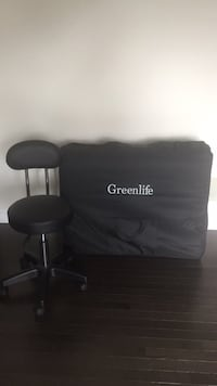Portable massage bed with matching stool  Caledon