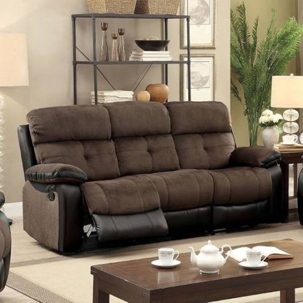 Beautiful New Recliner Sofa From Furniture Of America Only 450 Original Price