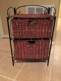 black and brown wicker basket Jackson, 08527