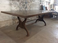 rectangular brown wooden double pedestal dining table Cambridge, N1R 2G8