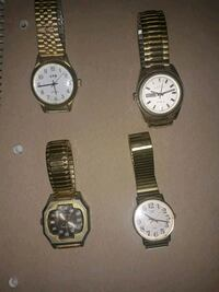 4 antique gold watches