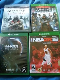 One ps3 game and 4 xbox one games Baltimore, 21225