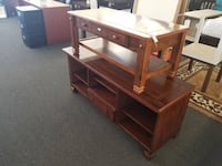 "Summit Mountain Wood Veneer TV Stand for TVs 55"" , Combo coffee table - $199 Houston, 77092"
