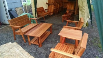 Outdoor cedar patio furniture