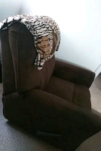 Chocolate brown comfy recliner sofa chair