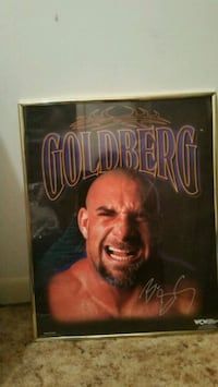 WCW Goldberg picture in frame Wetumpka, 36092
