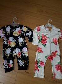 $5 each toddler's black and white floral footies