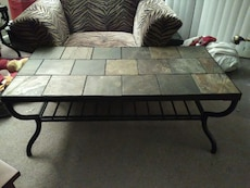 Slate coffee table w/ bottom shelf