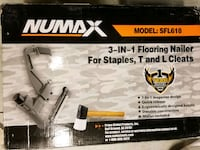 NuMax SFL618 Pneumatic 3-in-1 Flooring Nailer and Stapler