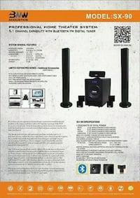 BNW Acoustics SX-90 Home Theater System $2,700.00 516 mi
