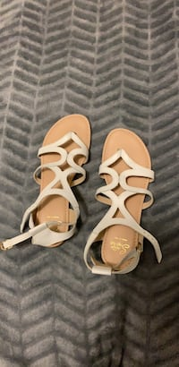 Pair of white strappy leather sandals Toronto, M1T 1G5