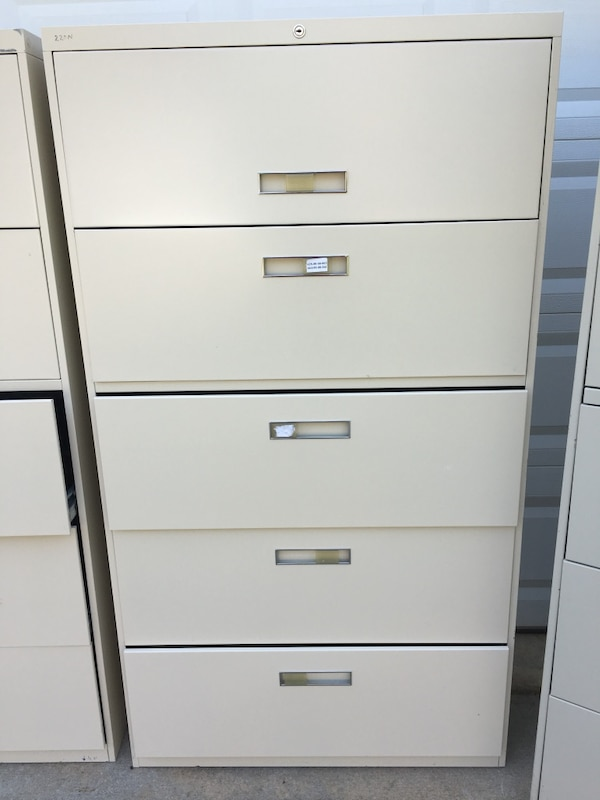 Allsteel  & Hon 5-Drawer Lateral File Cabinets 52b1cdfa-bb56-4fc8-8405-a75d537df1ab