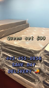 Queen mattress FREE BOX SPRING ON SALE NOW SAME DAY DELIVERY AVAILABLE Baltimore, 21224