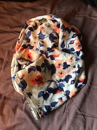 Blue, coral and white floral scarf Calgary, T2J 3H8