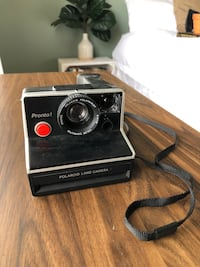 Vintage Polaroid with Leather Case