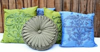 Variety of home decor pillows