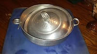 Silver serving bowl with lid  361 mi