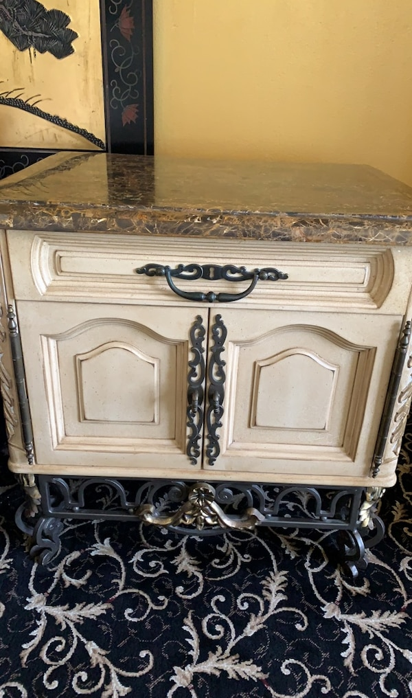 Used 2 End Tables With Matching Armoire For Sale In Delray