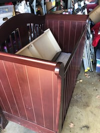 crib with mattress and drawer