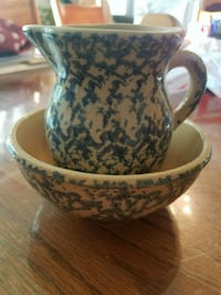 Miniature Pitcher and Bowl