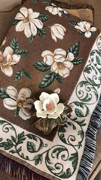 Brown, green, and white floral textile Lafayette, 47905
