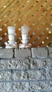white and brown concrete candle holder Montreal, H3R 3L4