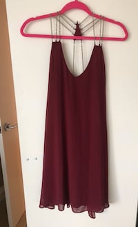 Large burgundy chain dress Toronto, M4S 0A2