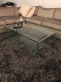gray metal framed glass-top table Mississauga, L4X 1L7