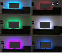 USB power supply LED strip red.  31 km