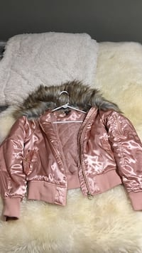 Pink satin jacket with fur collar  Centennial, 80015