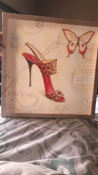 white and red stiletto box