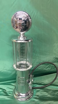 Clear glass keg tap all metal in excellent conditions